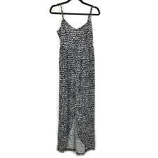Susana Monaco Womens Dress Size Medium M Maxi Black White Print Sleeveless