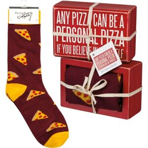 Box Sign & Sock Set - A Personal Pizza