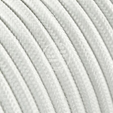 100ft White Round Cloth Covered Electrical Wire - Braided Rayon Fabric Wire
