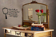 Inspired by Beauty and the Beast Wall Decal Sticker Look Back and Remember