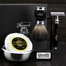Classic Men's Set da barba FT De Safety & Nero Puro Badger pennello regalo Kit F/LUI