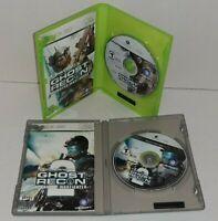 Ghost Recon Advanced Warfighter 1 And 2 Microsoft Xbox 360 Games Complete CIB