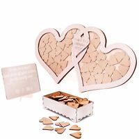 Wedding Drop Box Guest Book Alternative Personalised Double Heart