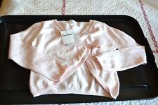 cardigan repetto  neuf rose chausson 6 ans 20% cashemire cache coeur 84eur