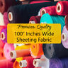 "Sheeting Fabric Solid Plain Poly Cotton Bed Crafts 100"" Inches Wide / Per Meter"