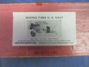 """VINTAGE F/F BOEING F4B4 U.S.NAVY, 3/4""""SCALE, RUBBER, NIB"""