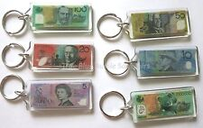 18x Australian Souvenir Keyrings - Australian Currency Note Bill Key Ring Koala