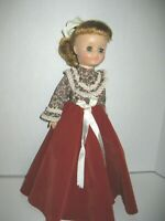 "Vintage Vogue 15"" Miss Ginny Doll 1960's Brown Dress #15"