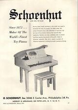 1951 PAPER AD Schoenhut Toy Baby Grand Piano Sice 1872