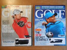 GOLF Magazines, lot of 2, May, April 2014, Tiger Woods, Adam Scott