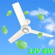 DC12V 5W Plastic 3 Leaves Brushless Converter Motor Cooling Mini Ceiling Fan