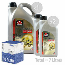 Engine Oil and Filter Service Kit 7 LITRES Millers XF Longlife C3 5w-30 7L