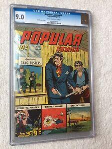 Popular Comics #99 May 1944 Dell CGC 9.0 GOLDEN AGE Gang Busters Smokey Stover