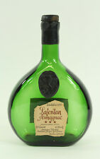 Lafontan Armagnac Green Glass Empty Bottle with Cork. Vintage Bar Décor