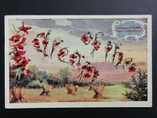 Poppies Postcard: Language of Flowers I DREAM OF THEE c1913 - Donation to R.B.L.