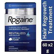 Men's Rogaine Hair Loss & Hair Thinning Treatment Minoxidil Foam 3 Month Supply