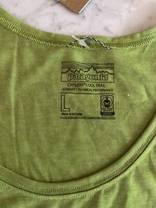 NWT Patagonia Men's Capilene Daily Cool Sleeveless GREEN LARGE