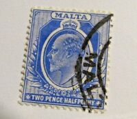 MALTA Sc #36 Θ used , 2 pence ½ penny,  Royalty, postage stamp, Fine +