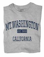 Mt.Washington California CA T-Shirt Los Angeles EST