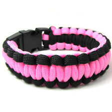 Hot Paracord Parachute Rope Bracelet Wristband Survival Hiking Color Pick