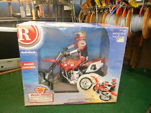 Vintage RC RadioShack Ricky Carmichael CR250R 60-4353 1/4 1/5 NIB RTR Motorcycle