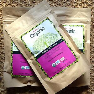 2x100gRadico Organic BHRINGRAJ Eclipta Leaf Powder reines Bio-Pulver vegan Puder