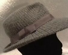 Vintage Grey Acrylic Mix hat From The 60's Made In Italy EUC! FREE POSTAGE!