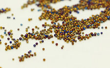 12g Glass Micro Beads No Hole 0.6mm -1mm Nail Art Caviar Marbles Microbeads J-1