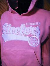 """Pittsburgh Steelers Hoodie Sweatshirt Sz 14/16 19"""" bust"""
