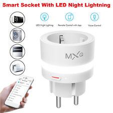 Alexa/Echo WIFI LED Smart Wandleuchte Voice Socket Fernbedienung Lichtschalter