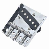 Chrome Vintage 3 Saddle Bridge With Pickup For Electric Guitar Fender Tele Parts