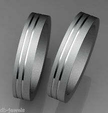Pair of Wedding bands 14k SELECT YELLOW or  WHITE or ROSE GOLD DA553