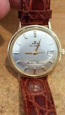 Vintage Jaeger LeCoultre Master Mariner Watch Solid 14k Gold  Wristwatch