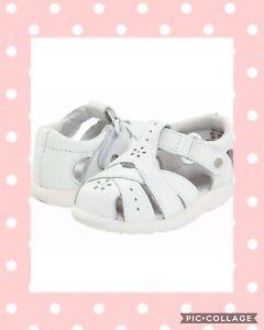 NIB  Stride Rite Baby Girl SRT Tulip White BG40573 Sandals Shoes Size 6 6.5 8W
