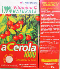 Acerola 100% Vitamina C naturale gusto frutti rossi 30cpr senza VitC artificiale