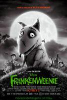 FRANKENWEENIE MOVIE POSTER Original DS 27x40 Final Style TIM BURTON Film 2012