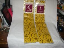 CLEO FLAT GIFT TISSUE 2 PACKS 5 SHEETS EACH1.67' X 1.67' HAPPY FACE YELLOW 1997
