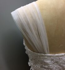DETACHABLE WEDDING DRESS STRAPS IVORY WHITE 10 12 14 16 18 20 22 A-LINE FISHTAIL
