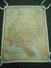 Vintage Western Russia Map Geography Historical 1969 Soviet Eastern Europe