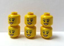 LEGO 6 Heads Head For Girl Female Figure  Minifigures   Big Smile