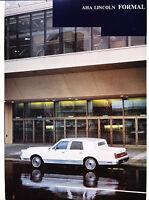 1987 Lincoln AHA Town Car Limo Sales Brochure