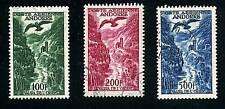 """ANDORRE AERIEN 1955-57 Y&T 2/4 """"LE VALIRA""""OBLITERES TTB"""