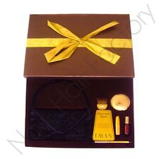 Iman Gift Set lipstick / nail Polish / Lipliner/ Shimmer Powder/ Evening Purse
