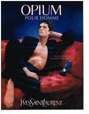 PUBLICITE ADVERTISING  1997   YVES SAINT LAURENT  OPIUM  pour homme