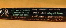 1990 Oakland Athletics World Series Black Bat MINT