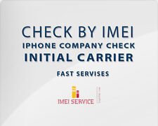 Apple iPhone / iPad Company Check + Initial Carrier + FMI + Sold To - By IMEI