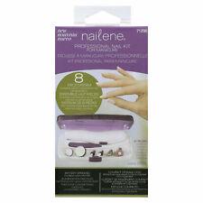 Nailene 8pc Pro Nail Kit Cordless Natural & Acrylic Manicure Tools Shape File