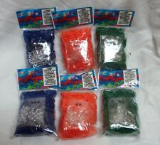 3600 RAINBOW LOOM RUBBER BAND BLUE GREEN ORANGE 6 PACKS OF 600