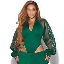 Adidas x IVY PARK Beyoncé Mesh Long Sleeved Bodysuit M (12-14) Green Yellow