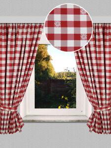 1 x Vorhang,weiß,rot,Landhaus,Shabby,68//150cm